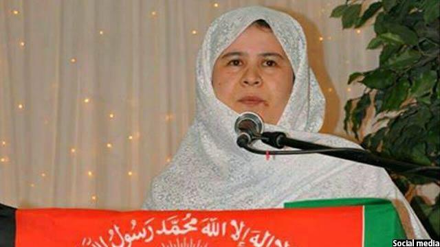 خانم رضایی نماینده مردم غزنی در پارلمان افغانستان است