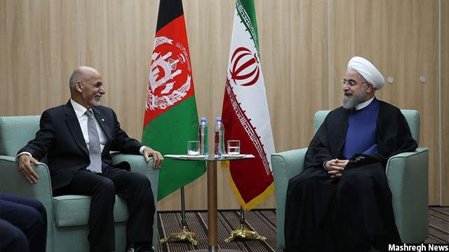 دیدار رییس جمهور غنی و حسن روحانی، رییس جمهور ایران