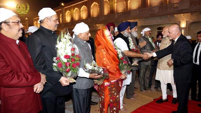 استقبال گرم مقامات هند از رییس جمهور افغانستان