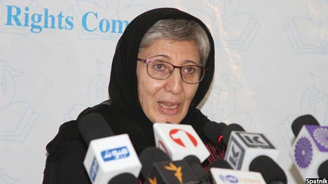 سیما سمر، رییس کمیسیون مستقل حقوق بشر افغانستان،