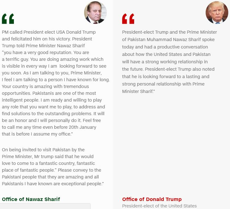 گفتوگوی ترامپ و شریف و نواقص که در اعلامیههای آنان آمده است