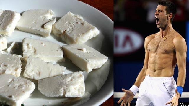 نوواک جوکوویچ، مرد شماره یک تینیس جهان نیز یکی از مشتری های پنیر بلگراد است