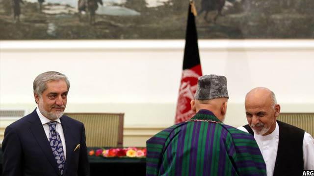 جریان واگذاری قدرت از رییس جمهور کرزی به رییس جمهور غنی