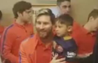 لیونل مسی با هوادار خردسال افغان خود دیدار کرد + (ویدیو)