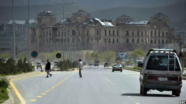 قصر دارالامان در غرب کابل