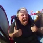 مردی که به شدت از چرخ فلک می ترسد