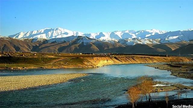 نمایی از دریای کوکچه در ولایت تخار