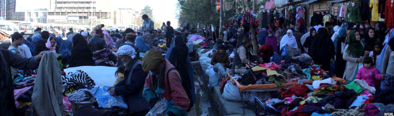 بازار گرم کهنهفروشی در کابل؛ لیلامیفروشان تا ۲۰ هزار افغانی بوت میفروشند