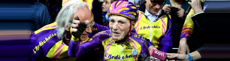 رابرت مارچند، دوچرخه سوار ۱۰۵ ساله رکورد جدید ثبت کرد