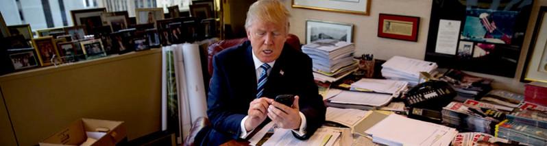اولین محدودیت برای ترامپ؛ تلفن گلکسی ۴۵مین رییسجمهور آمریکا تعویض شد
