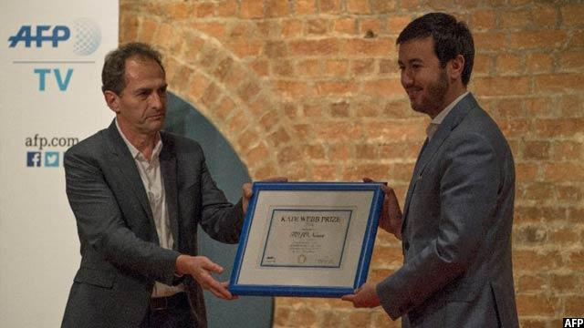 این جایزه در سال گذشتهی میلادی به رسانهی افغانی (طلوع نیوز) داده شد