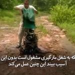 مرد هندی که در یک آن دهها مار زهرآگین و کشنده را در جنگل رها میکند