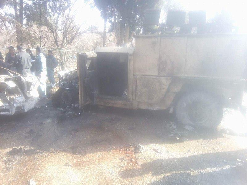 نمایی پس از حملهی خونین امروز در لشکرگاه مرکز ولایت هلمند