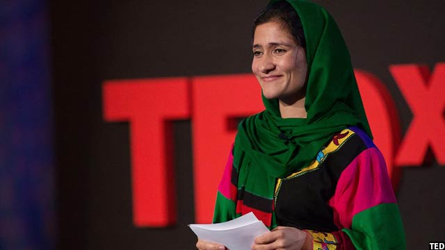 شبانه بسیج راسخ حین صحبت روی ستیج تد