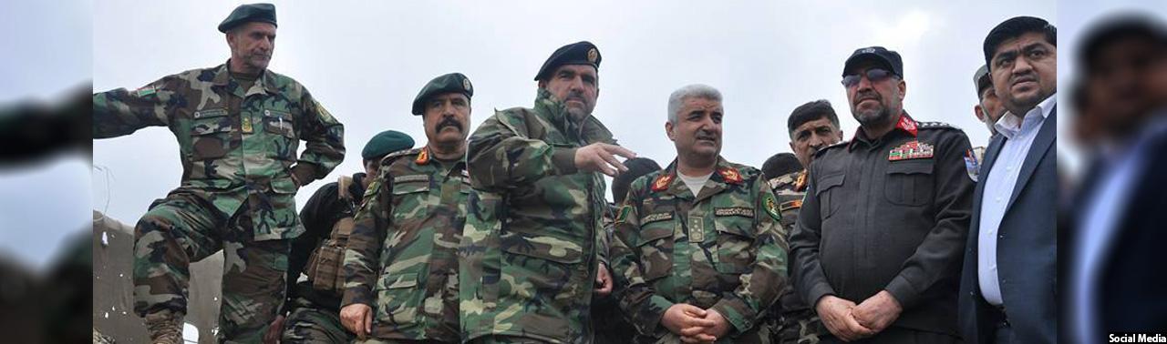 کنر و ننگرهار؛ بازدید مقامات ارتش و پولیس افغانستان پس از حملات راکتی پاکستان