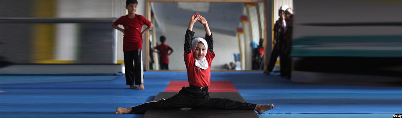 Afghan-Gymnast-little-girl