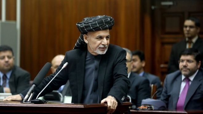 Ghani in Parliament