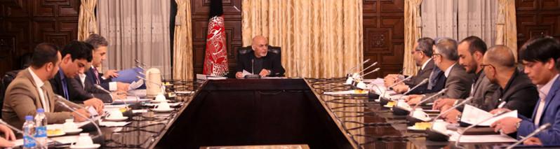 واگذاری ۸ قرارداد به ارزش ۲۵ میلیارد افغانی در ارگ ریاست جمهوری افغانستان