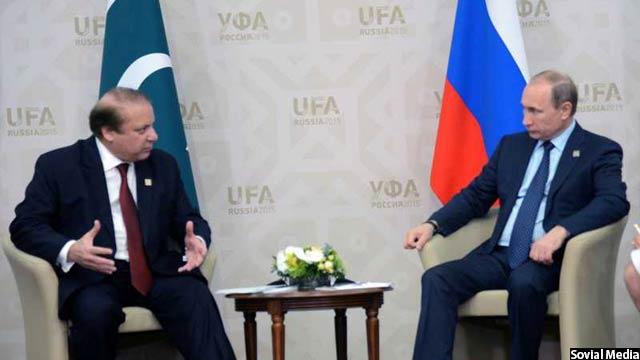 دیدار نوازشریف، نخست وزیر پاکستان و پوتین در روسیه