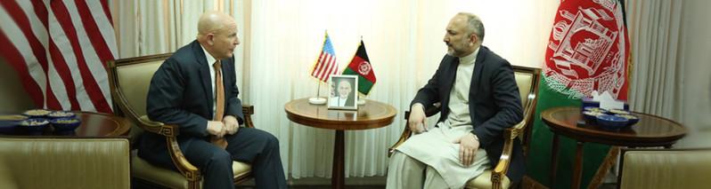 مشاور امنیت ملی آمریکا در کابل؛ دیدارهای فشرده و تاکید بر نابودی تروریزم