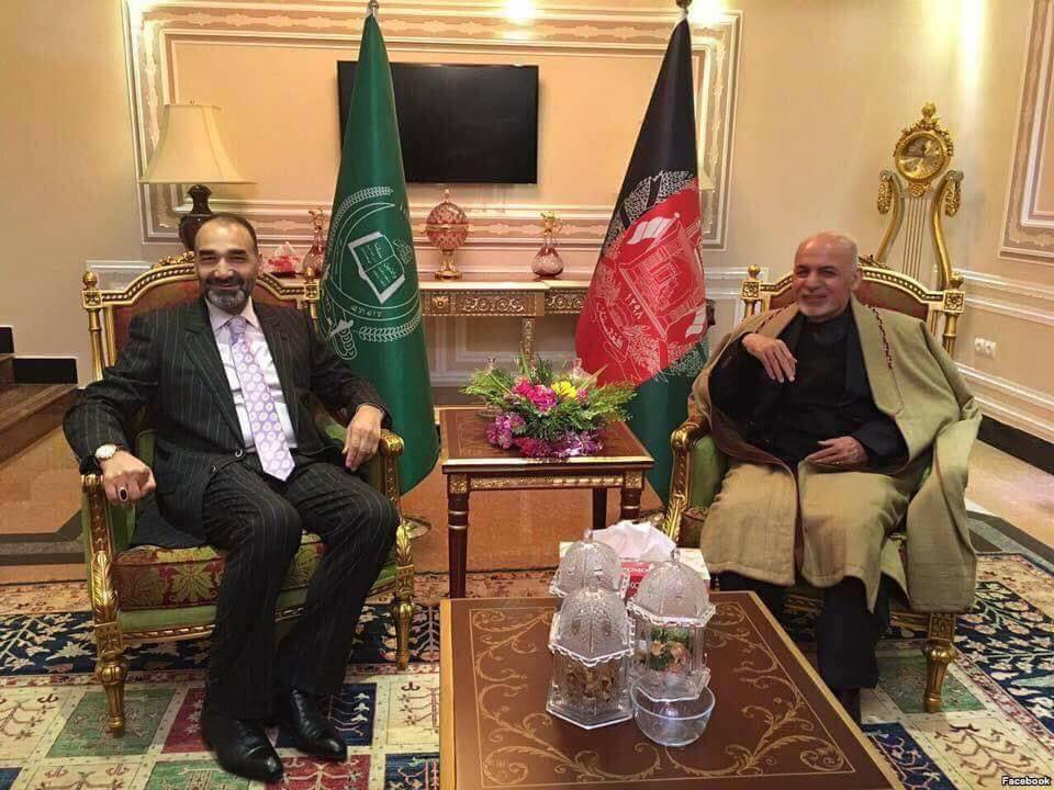Ghani in Balkh with Gov Atta Mohammad Noor