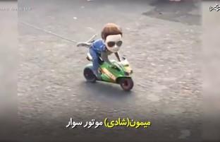 میمون (شادی) موتور سوار. 😎😎😎