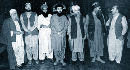 Afghan Leaders of Parties Jehadi Hekmatyar Mohseni Sayaf