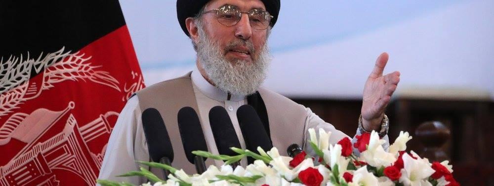 Gulbuddin Hekmatyar at Afghan Pres Palace arg