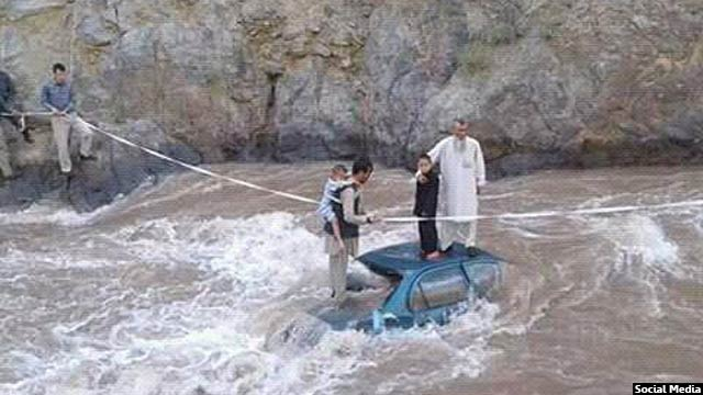 موتری که در شهرستان شیبر بامیان به دریا سقوط کرده تلفاتی بر جای گذاشته است