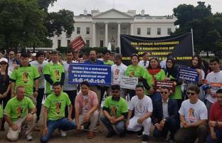 این بار در آمریکا؛ تظاهرات حامیان جنبش روشنایی در مقابل بانک توسعه آسیایی