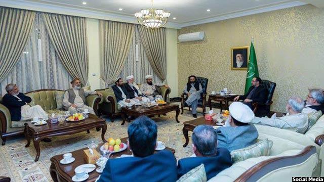 دیدار ارغندیوال با صلاحالدین ربانی، رهبر حزب جمعیت اسلامی