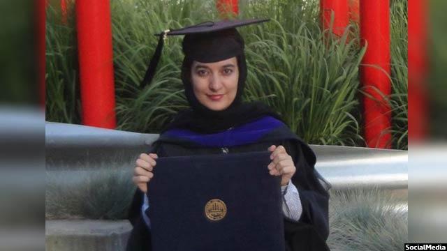 خانم بادغیسی ماستری اش را از دانشگاه واشنگتن گرفته است