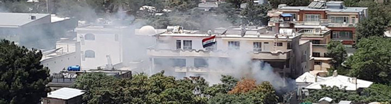 حمله مهاجمان انتحاری به سفارت عراق در مرکز شهر کابل