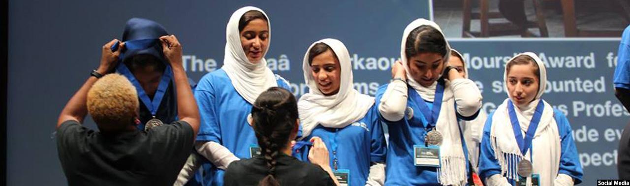 دستاورد بزرگ؛ تیم دختران روبات ساز افغان برنده مدال نقره شد