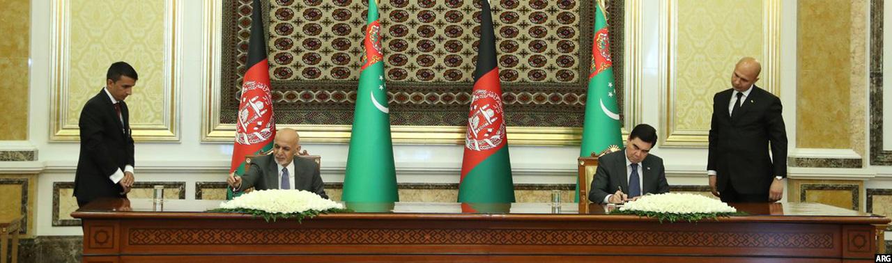 در عشق آباد؛ انعقاد ۷ موافقتنامه میان افغانستان و ترکمنستان