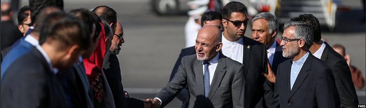در ایران؛ رییس جمهور غنی برای شرکت در مراسم تحلیف حسن روحانی، وارد تهران شد