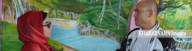 جکی شین؛ هنرمندی که دنیای از آرامش را به زندگی شهروندان افغان هدیه میدهد