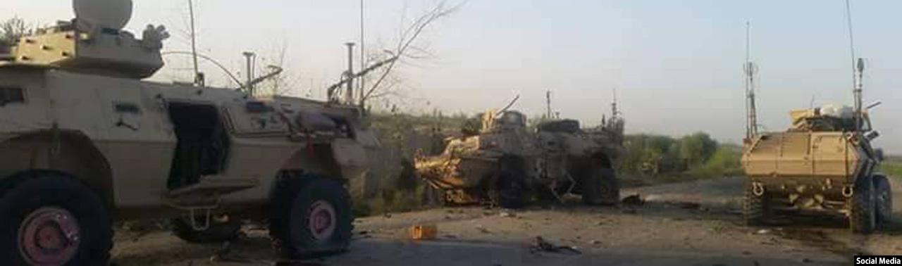 در هلمند؛ حمله انتحاری بر نیروهای نظامی افغانستان در شهرستان ناوه