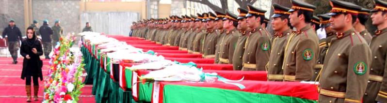 آمار تکان دهنده؛ کشته شدن بیش از ۲۵۰۰ سرباز افغان در ۴ ماه نخست سال جاری میلادی