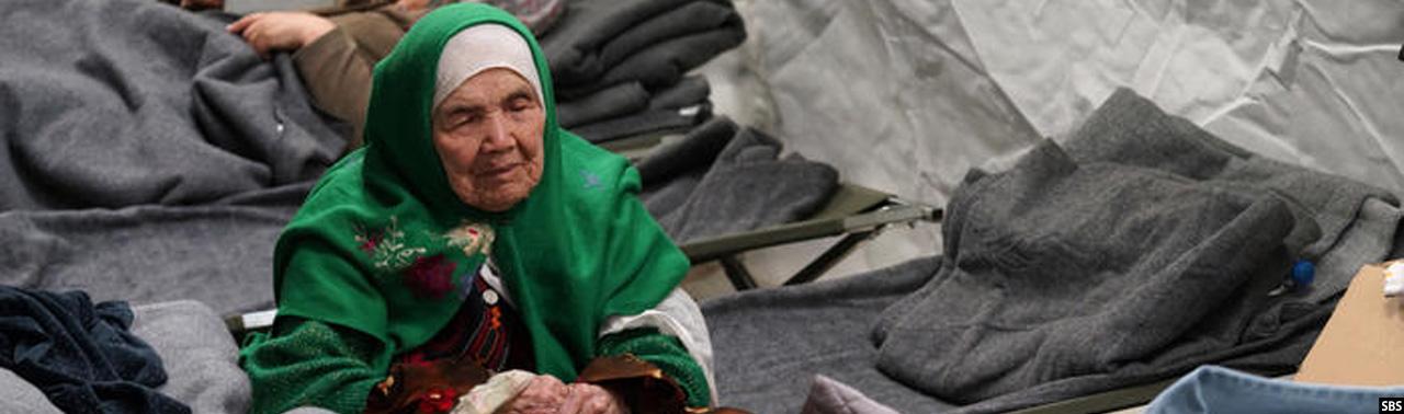 در عالم مهاجرت؛ زن ۱۰۶ ساله افغان در شوک رد درخواست پناهندگی سکته کرد