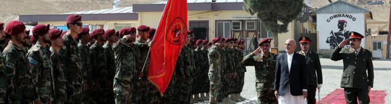 با حضور رییس جمهور؛ ارتقای فرقه عملیاتهای خاص افغانستان به سطح سپاه