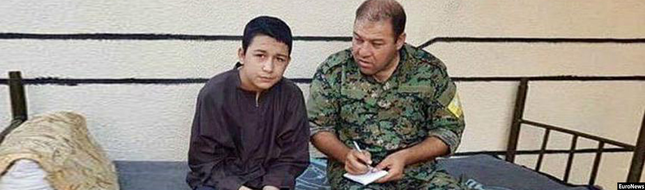 از خونخوارترینهای قرن؛ نوجوان جلاد داعش به دام افتاد