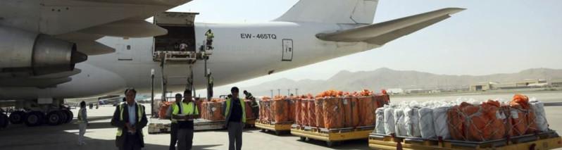 ششمین پرواز؛ انتقال ۳۷ تُن میوه افغانستان به هند از مسیر دهلیز هوایی