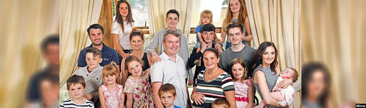 بزرگترین خانواده در بریتانیا؛ بیست جشن تولد در سال و هزینههای سنگین زندگی