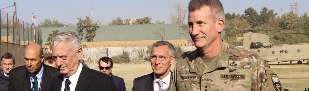 وزیر دفاع آمریکا و دبیرکل ناتو وارد کابل شدند