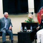 وزیر خارجه آمریکا در کابل؛ دیدار با رییسجمهور غنی و تاکید بر نابودی پناهگاههای امن تروریستان