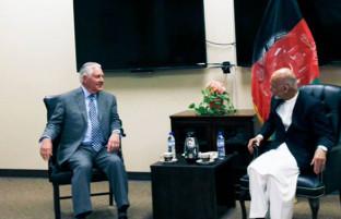 کابل یا بگرام؛ حاشیههای دیدار رییسجمهور با وزیر خارجه آمریکا و عکسهای ویرایش شده از سوی ارگ