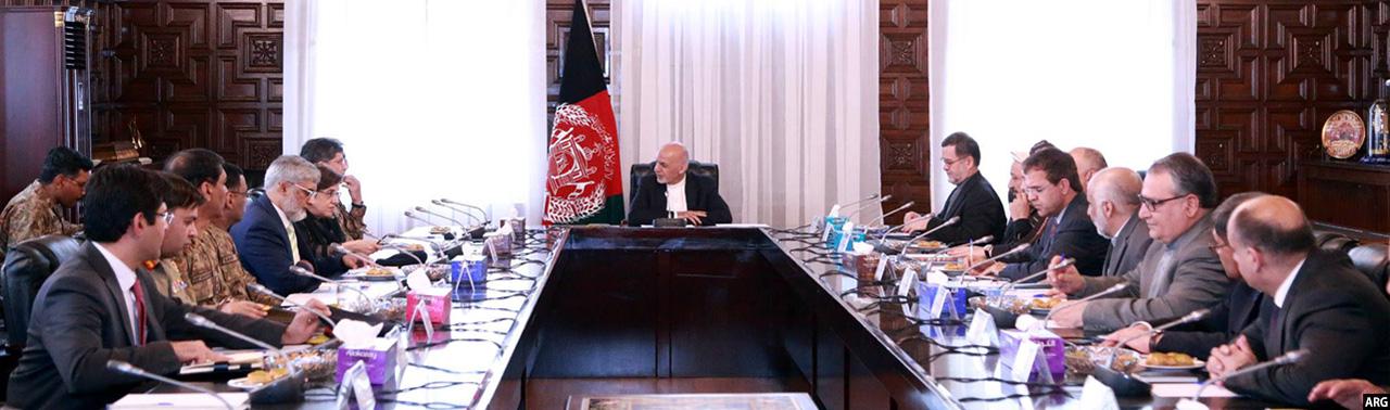 دیدار رییس جمهور افغانستان با هیئت پاکستانی در کابل