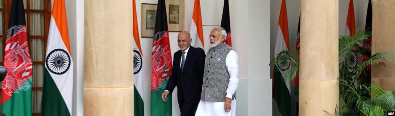 رییسجمهور غنی در هند؛ تمرکز بر استراتژی جدید آمریکا و صلح و امنیت در افغانستان