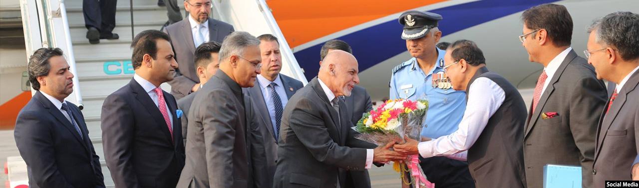 رییس جمهور افغانستان برای دیدار با مقامات هند، وارد این کشور شد